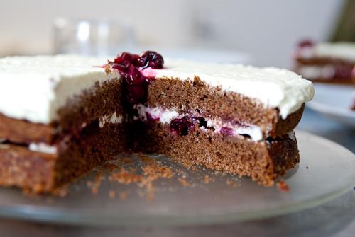 cake cherry chocolate cake made chocolate cherry cake slice of vegan ...